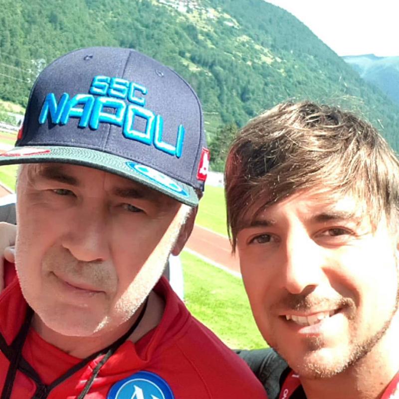 Alessandro Recine e Carlo Ancelotti
